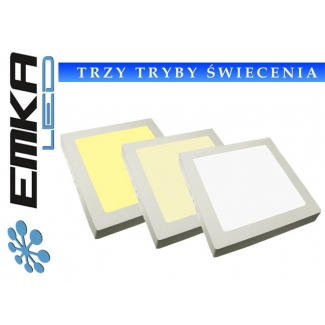 Panel LED kwadratowy 6W WW+DW+CW