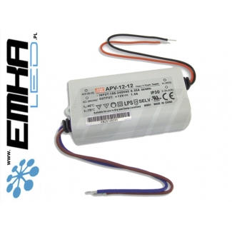 Zasilacz APV mini Mean Well 1A 12W 12V