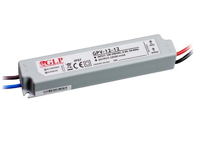 Zasilacz LED GPV-12-12 1A 12W 12V, IP67
