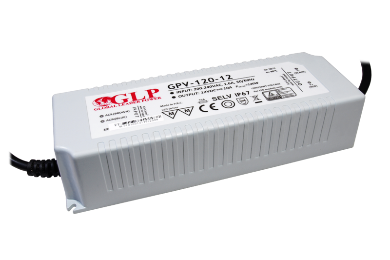 Zasilacz LED GPV-120-12 10A 120W 12V IP67