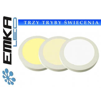 Panel LED Okrągły 12W 230V WW+DW+CW dimmable+pilot