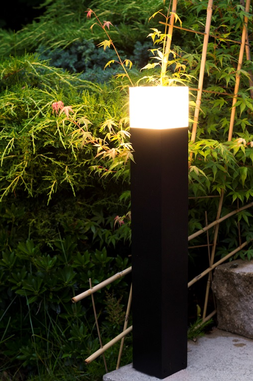 Lampa Ogrodowa Stojąca Cube 33cm Aluminium Ip44 Czarna