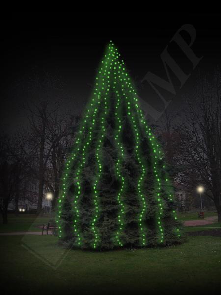 Lampki Choinkowe Led Zewnętrzne Zielone 10m 100led Ciemny Przewód